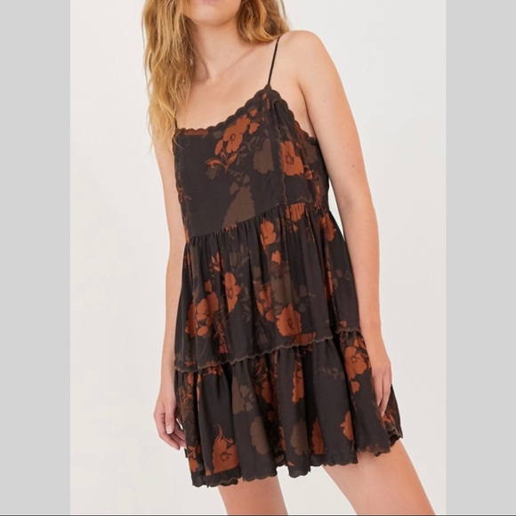 Urban Outfitters Hanna Scallop Babydoll Dress